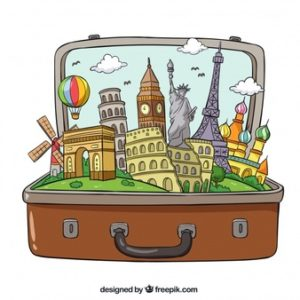 suitcase-with-landmarks-in-hand-drawn-style_23-2147780040